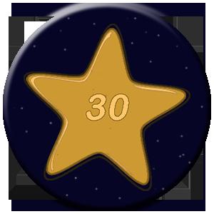 30 Tage - goldener Stern