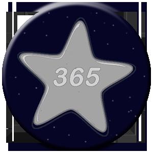 365 Tage - silberner Stern