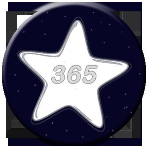 365 Tage - weißer Stern
